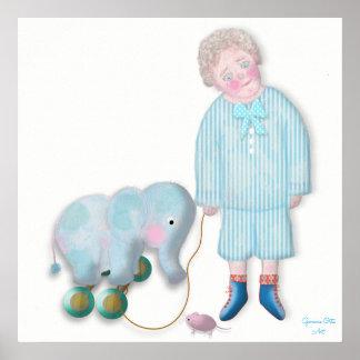 Cute children Illustration by Gemma Orte Designs. Poster