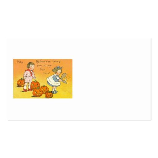 Cute Children Jack O Lantern Pumpkin Business Card