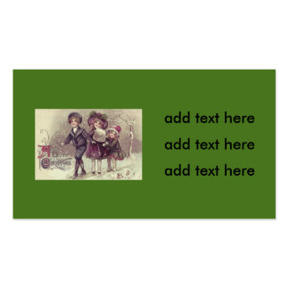 Cute Children Playing Snow Winter Pack Of Standard Business Cards