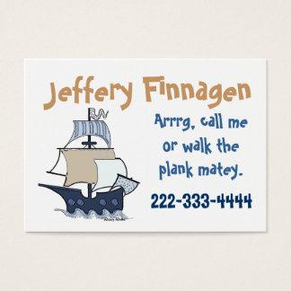 Cute Children's Pirate Ship Calling Card