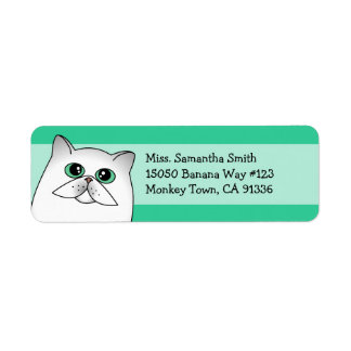 Cute Chincilla Persian Cat Return Address Labels