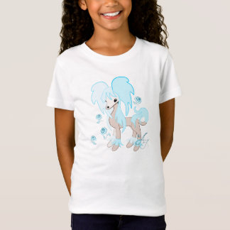 Cute Chinese Crested Pastel Blue T-Shirt
