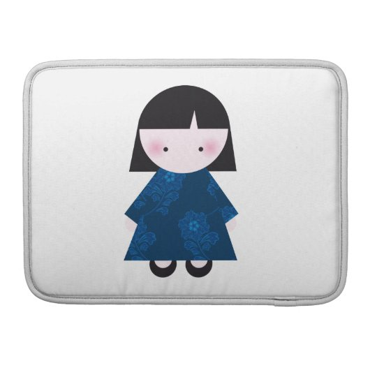 Cute chinese girl sleeve for MacBook pro