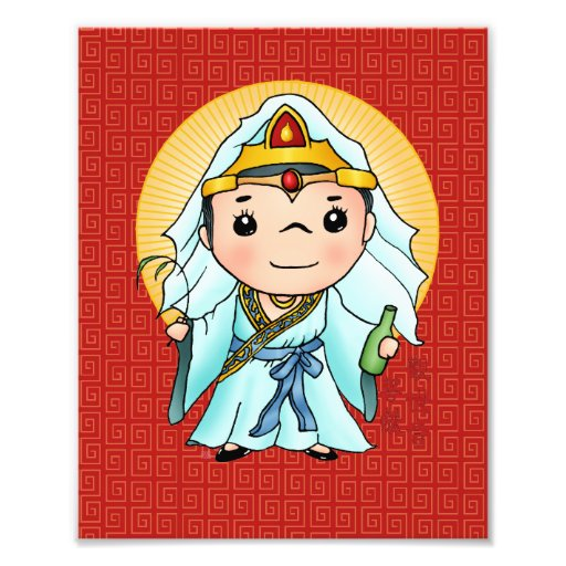 Cute Chinese God Of Compassion Art Photo