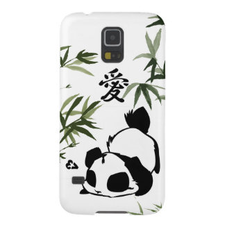 "Cute Chinese ""Love"" Panda with Bamboos Galaxy S5 Covers"
