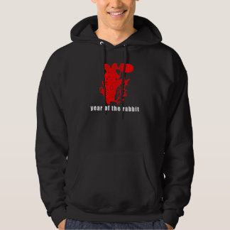 Cute Chinese Paper Cut Year of The Rabbit Hoodie