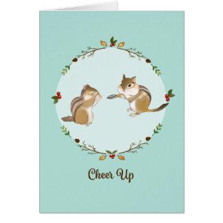 Cute Chipmunk Cheer Up Get Better Soon Card