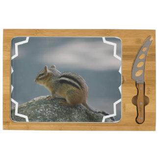 Cute Chipmunk Rectangular Cheese Board
