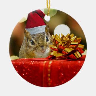 Cute Chipmunk Merry Christmas Christmas Ornament