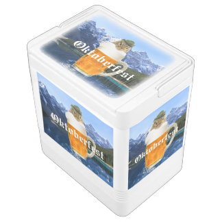 Cute Chipmunk Oktoberfest Mountains Igloo Cooler