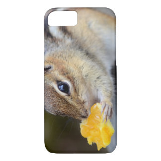 Cute Chipmunk Snacking on a Sweet Orange iPhone 7 Case
