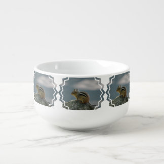 Cute Chipmunk Soup Bowl With Handle