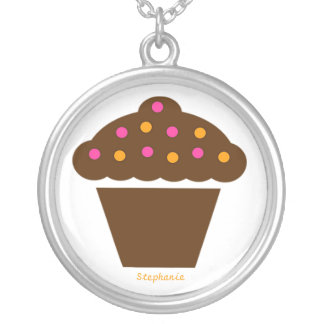 Cute Chocolate Cupcake Necklace