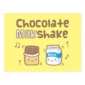 Cute Chocolate Milkshake Doodle For Her Postcard