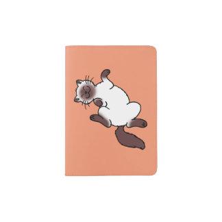 Cute chocolate point Siamese cat Passport Holder