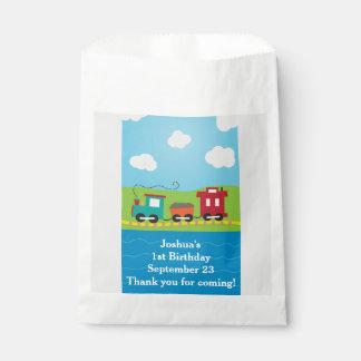 Cute Choo Choo Train Boy's Birthday Party Favour Bags