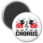 Cute Chorus Red Ladybugs Fridge Magnet