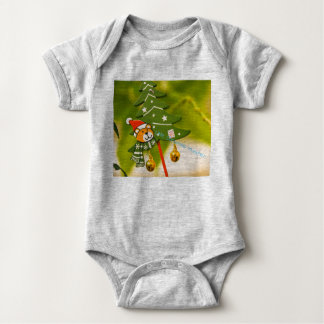 cute chrismas themed clothing baby bodysuit