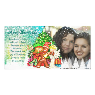 Cute Christmas 100% personalized  photo cards