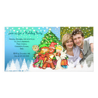 Cute Christmas 100% personalized  photo invitation Personalised Photo Card