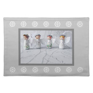 Cute Christmas Angels Placemat