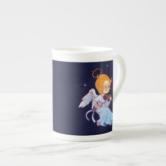 Cute Christmas  baby angel playing violin Tea Cup