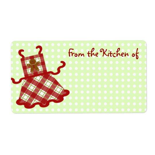 Cute Christmas Baker Kitchen Labels
