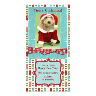 Cute Christmas Beaded Whimsy Custom Picture Card
