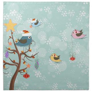 Cute Christmas Birds Napkins