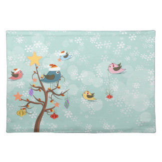 Cute Christmas Birds Placemat