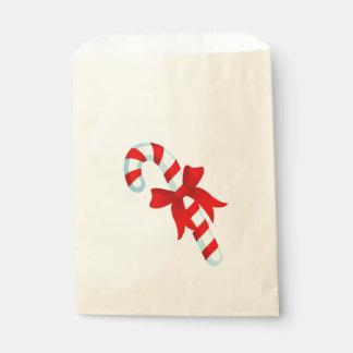 Cute Christmas Candy Cane Favor Bag