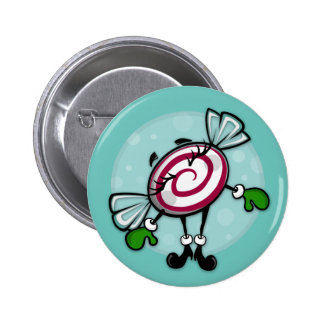 CUTE CHRISTMAS CANDY ROUND HOLIDAY BUTTON
