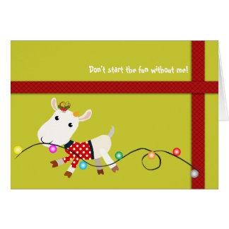 Cute Christmas Card (Goat Kid) - Customizable