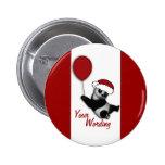 Cute Christmas cartoon bear badges