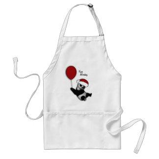 Cute Christmas cartoon bear gifts Standard Apron