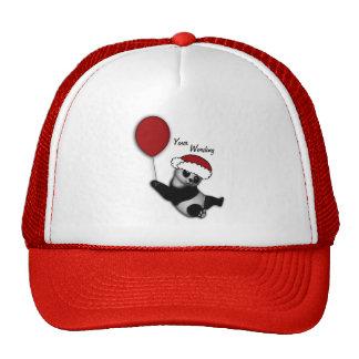 Cute christmas cartoon bear gifts hats