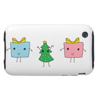Cute Christmas iPhone 3 Tough Cases