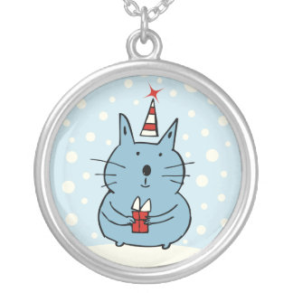 Cute Christmas Cat Necklace