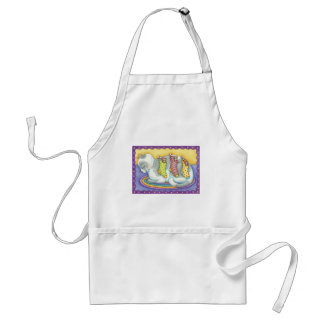 Cute Christmas Cat Sleeping with Mice in Stockings Standard Apron