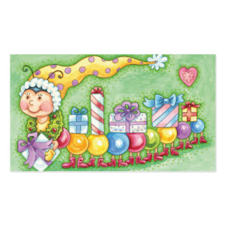 Cute Christmas Caterpillar Train with Presents Pack Of Standard Business Cards