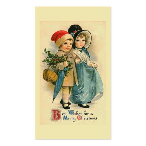 """Cute Christmas Children"" Business Card Templates"