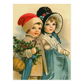 """Cute Christmas Children"" Postcard"
