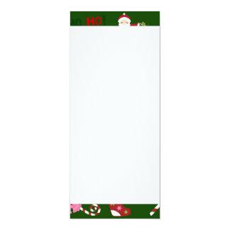 Cute Christmas Collage Design with Santa 10 Cm X 24 Cm Invitation Card