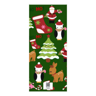 Cute Christmas Collage Design with Santa Invites
