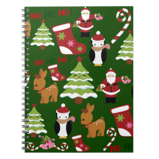 Cute Christmas Collage Design with Santa Notebook