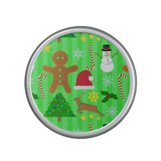 Cute Christmas Collage Holiday Pattern Bluetooth Speaker