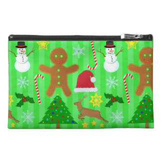 Cute Christmas Collage Holiday Pattern Travel Accessories Bag