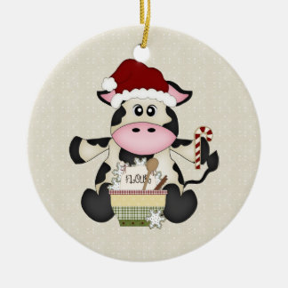 Cute Christmas Cow Ornament