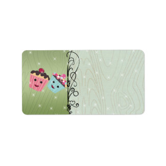 Cute Christmas Cupcakes Address Label
