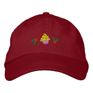 Cute Christmas Cupcakes Embroidered Hats